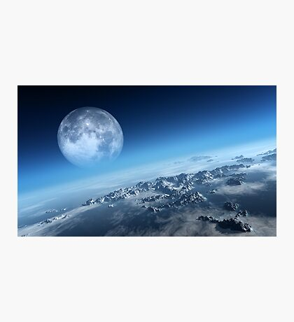 Earth icy ocean aerial view Photographic Print