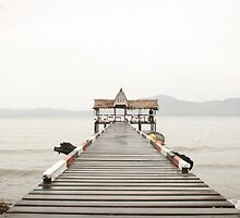 Alotau Jetty before the festival by Georgina   Friend