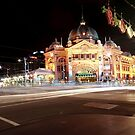 Flinders Station at Night by Hany  Kamel