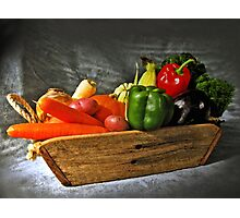 Vegetable Basket Sketch Photographic Print