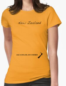 New Zealand - Like Scotland But Further Womens Fitted T-Shirt
