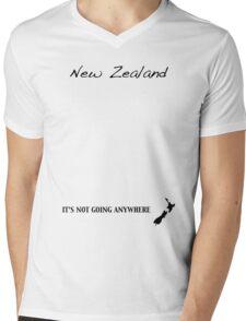 New Zealand - It's Not Going Anywhere Mens V-Neck T-Shirt
