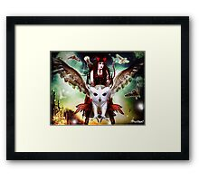 Flight of the Horned Owl Framed Print