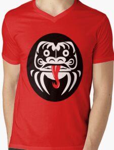 Hardcore Daruma Mens V-Neck T-Shirt