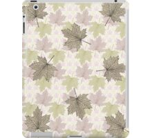 Autumn Fall Leaves Pastel Tones iPad Case/Skin