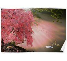 Kitsune sleeps beneath the Sakura as Shiratori guardians keep watch. Poster