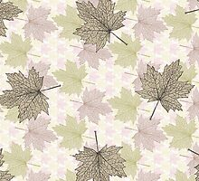 Autumn Fall Leaves Pastel Tones by oliopix