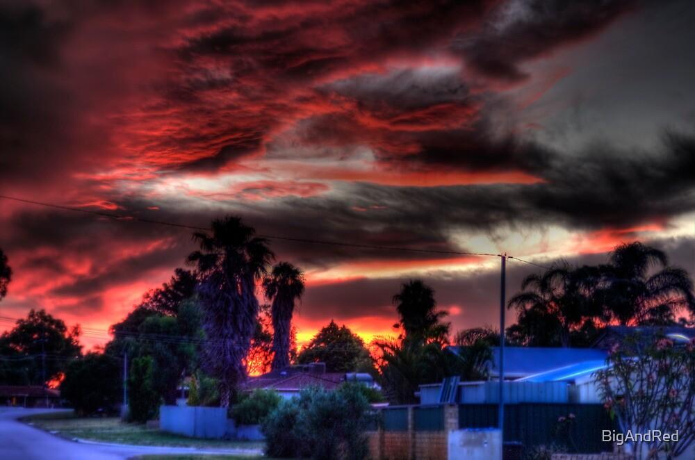 suburbia at sundown by BigAndRed