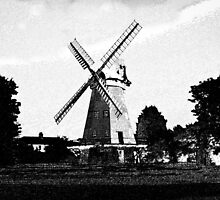 Upminster windmill Digital artwork by DavidHornchurch