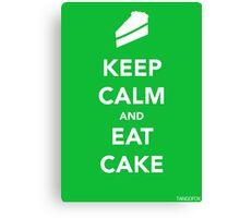 Keep Calm & Eat Cake Canvas Print