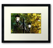Sweet, Old-Fashioned Streetlights - Impressions of Fall Framed Print
