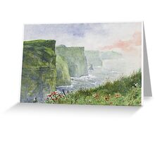 The Cliffs of Moher (Aillte an Mhothair) Greeting Card