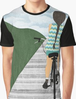 Cyclist From Behind Graphic T-Shirt