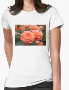 Happy, Fragrant Roses - Impressions of June Womens Fitted T-Shirt