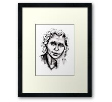 Russian Woman Leaning Framed Print