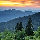 Fire in the Mountains - Blue Ridge Parkway NC Landscape by Dave Allen