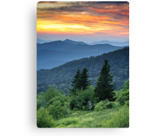 Fire in the Mountains - Blue Ridge Parkway NC Landscape Canvas Print