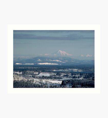 Looking to Mount Baker Washington State, USA Art Print