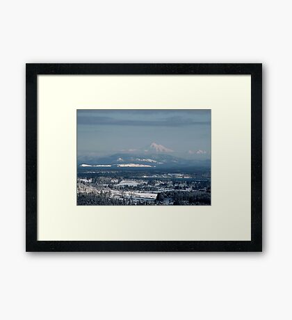 Looking to Mount Baker Washington State, USA Framed Print