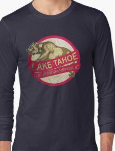 Lake Tahoe California vintage bear Long Sleeve T-Shirt