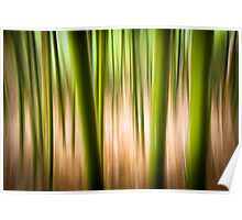 Vitality - Abstract Panning Bamboo Landscape Photography Poster