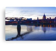 Impressions of London in Purple Canvas Print
