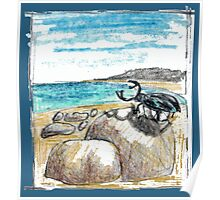 BEETLE ON THE BEACH Poster