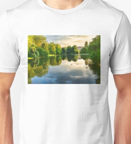 Impressions of Summer - St James's Park Lake Reflections Unisex T-Shirt