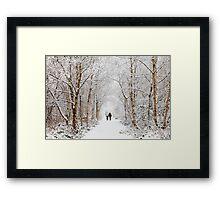 The Snowy Path Framed Print