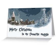 Merry Christmas to my favourite muggle Greeting Card