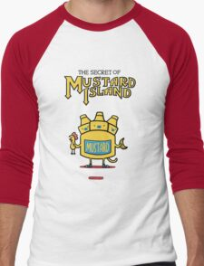 Look behind you, a three-headed mustard! Men's Baseball ¾ T-Shirt