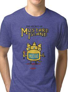 Look behind you, a three-headed mustard! Tri-blend T-Shirt