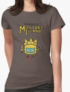 Look behind you, a three-headed mustard! Womens Fitted T-Shirt