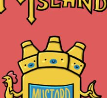 Look behind you, a three-headed mustard! Sticker