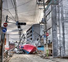 Ishinomaki, Shipwrecked in the Streets by robinlow