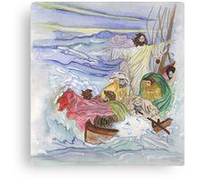 Jesus Calms the Storm Canvas Print