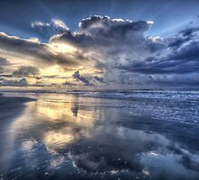Sunrise and Storm Clouds by jimcrotty