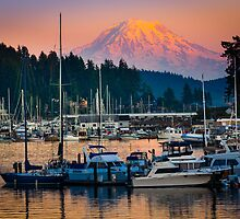 Gig Harbor Sunset by Inge Johnsson