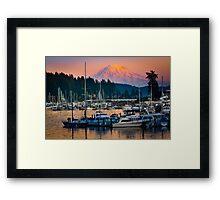 Gig Harbor Sunset Framed Print