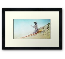 Divine offer in the beach Framed Print