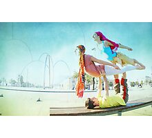 Acroyoga with two flyers Photographic Print