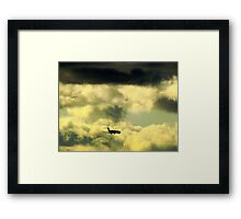 Flying through clouds Framed Print