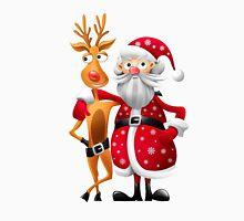 Santa and Rudolph deer Unisex T-Shirt