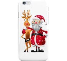 Santa and Rudolph deer iPhone Case/Skin
