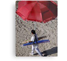 Selling Umbrellas - Vendiendo Sombrillas Metal Print
