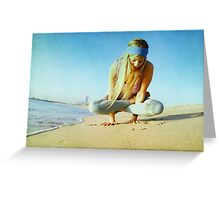 Elevated lotus at the beach Greeting Card