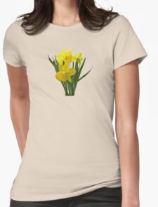 Three Daffodils Standing Guard Womens Fitted T-Shirt