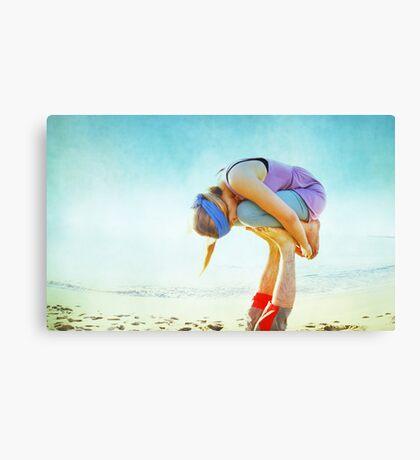 Elevated Child Pose  Canvas Print