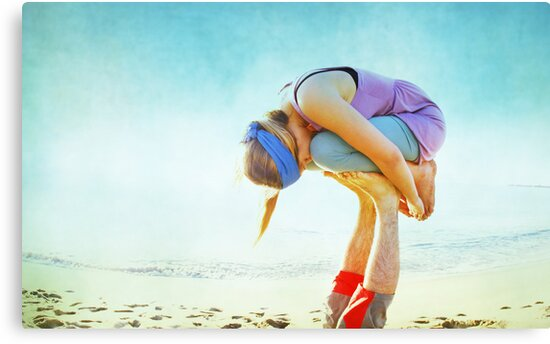 Elevated Child Pose  by Wari Om  Yoga Photography