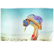 Elevated Child Pose  Poster